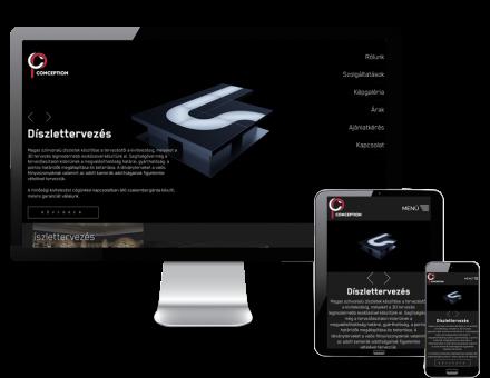 Conception.hu - Díszlettervezés, belső és külső terek, bútorok tervezése - reszponzív honlapkészítés