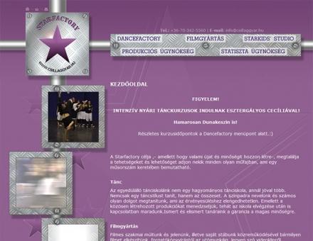 csillaggyar.hu weboldal készítése