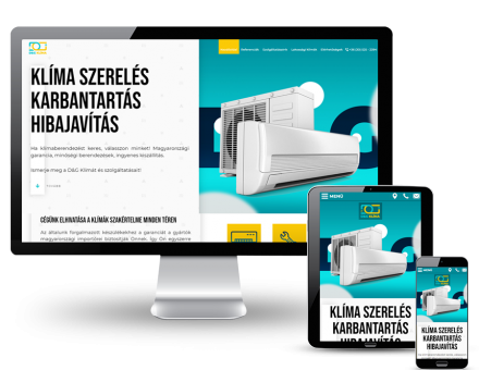 Dandgklima.hu - Klíma szerelés, karbantartás és javítás - reszponzív honlapkészítés