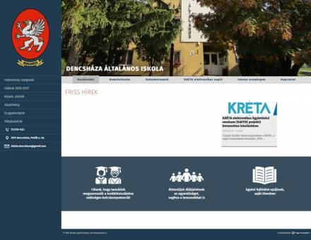 Dencshazaiskola.hu - Dencsháza Általános Iskola - reszponzív honlapkészítés