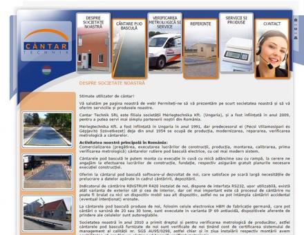 cantarpodbascula.ro honlap fejlesztése