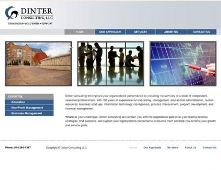 Paul Dinter Consulting weboldalának kódtervezése
