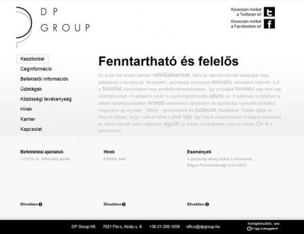 dpgroup.hu minimalista design