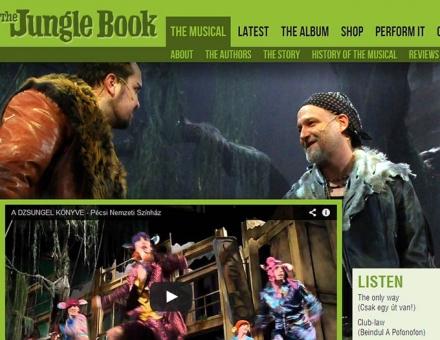 A dzsungel könyve (The Jungle Book) hivatalos oldalának elkészítése