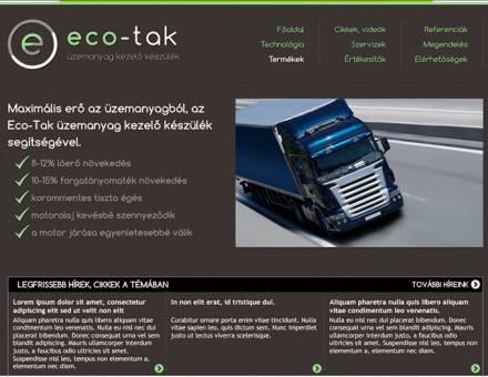 Eco-tak.hu honlapjának elkészítése