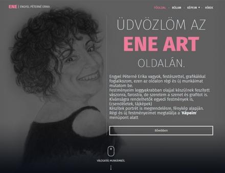 Eneart.hu Engyel Péterné Erika bemutatkozó honlapjának elkészítése