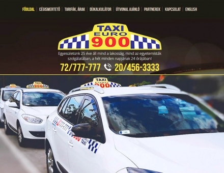 Euro900taxi.hu reszponzív honlap készítés