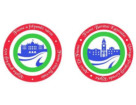Fiume a folyamló város és Fiume Barátai Egyesület logó