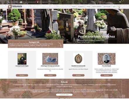 Fotókerámia.hu reszponzív porcelánplakett és urna értékesítő webáruház készítése