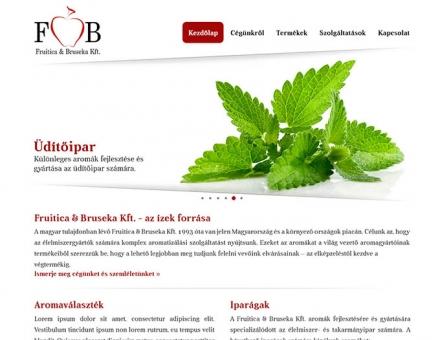 Fruitica & Bruseka Kft. bemutatkozó oldalának megújítása