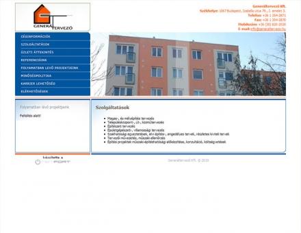 Generáltervező Kft. honlapjának elkészítése