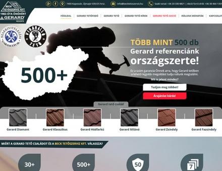 Gerard-tetofedes.hu reszponzív weboldal készítés