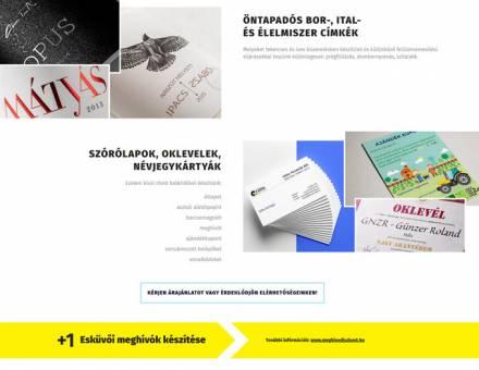 Gittanyomda.hu - nyomdai szolgáltatások - megújítása, reszponzív honlapkészítés