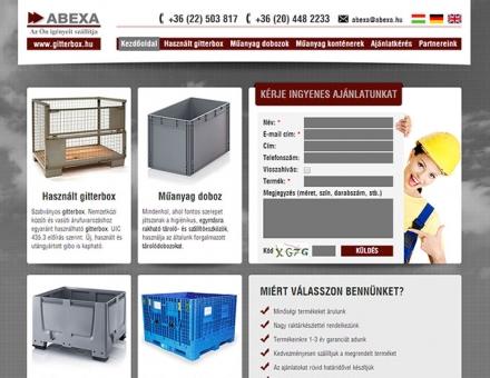 gitterbox.hu weboldal megújítása