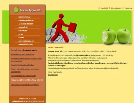 Green Apple Kft. új online arculatának elkészítése