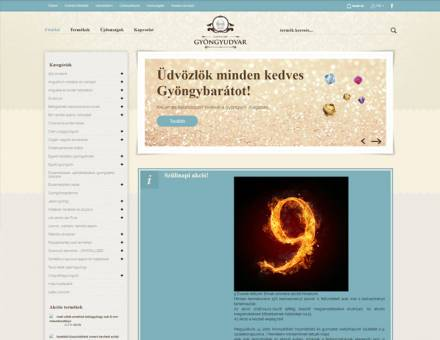 Gyongyudvar.hu - Gyöngy, gyöngyfűzés - reszponzív webáruház készítés