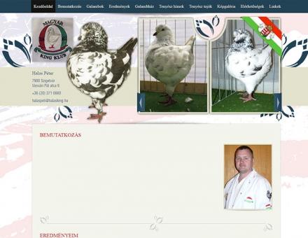 Halasking.hu weboldal elkészítése