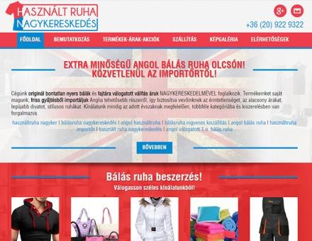 hasznaltruhanagykereskedes.eu bemutatkozó reszponzív weboldal készítés