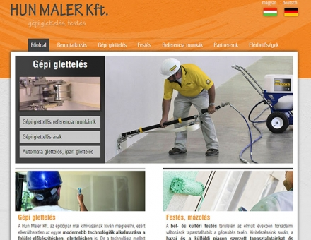 A pécsi Hunmaler Kft. céges bemutatkozó weboldal elkészítése