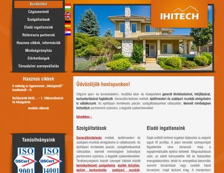 Ihitech.hu weboldal elkészítése