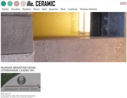 Illeceramic.com mobil barát webshop készítés