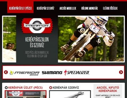 IMPERATOR kerékpárszalon és szerviz honlapjának elkészítése