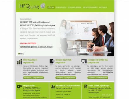 iNFOgyár Kft. (Pécs) bemutatkozó honlapjának elkészítése