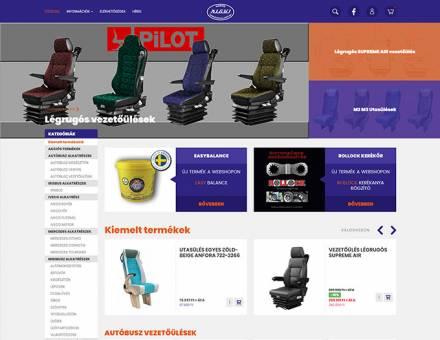Jarmugyartoshop.hu - autóbusz légrugós vezetőülés - reszponzív webáruház készítés