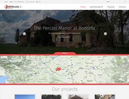 Jedinka.org reszponzív weboldal készítés