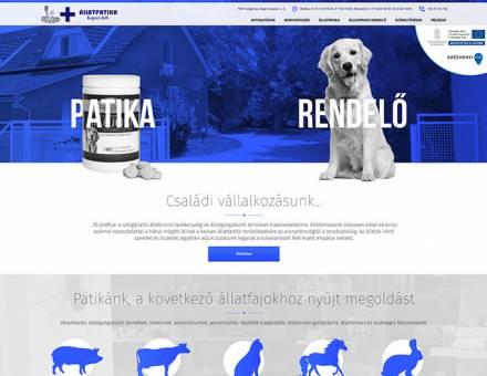 Kapocskft.hu állatorvosi rendelő és patika mobil barát honlap készítés