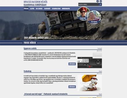 kisaetr.hu kamionos blog elkészítése