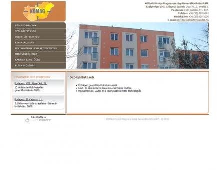 KÖMAG Kft. weboldal