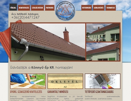 Konnyu-ep.hu kkv bemutatkozó weboldal készítés