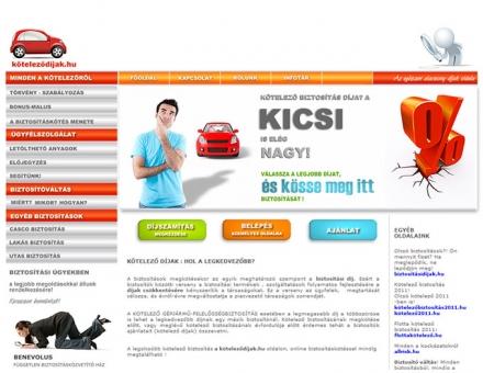 köteleződíjak.hu oldal programozása