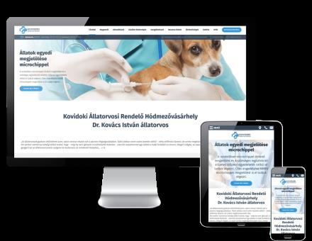 Kovidoki.hu - hódmezővásárhelyi állatorvosi rendelő reszponzív honlapkészítés