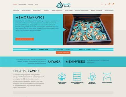 Kreativkavics.hu - készségfejlesztő társasjáték gyerekeknek - reszponzív webáruház készítés