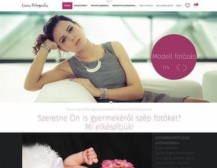 Lineafoto.hu - fotó szolgáltatás, fényképes ajándékok reszponzív webáruházának elkészítése