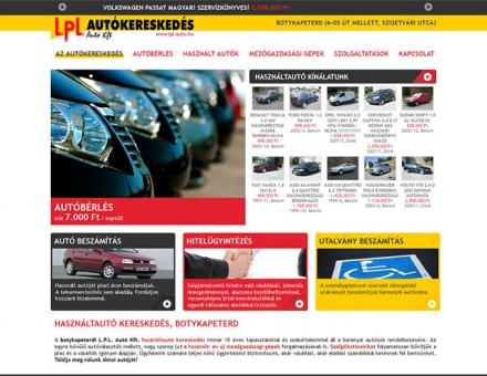 lpl-auto.hu honlap elkészítése