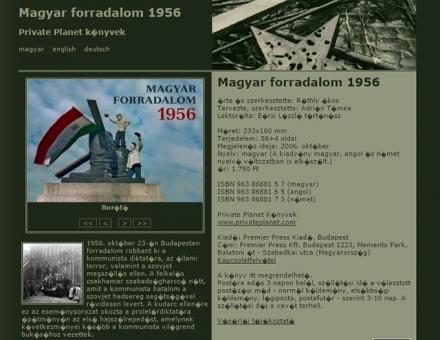 Magyar forradalom 1956 könyv weboldala