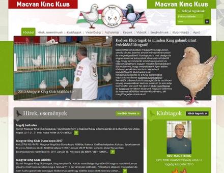 Magyarkingklub.hu weboldalának megújítása
