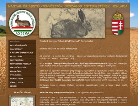 Dél-Zselic Hajnala Magyar Óriásnyúl-tenyészet weblapjának elkészítése
