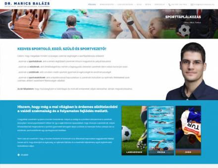 Maricsbalazs.hu - dietetikus, sporttáplálkozási szakember reszponzív honlapkészítése