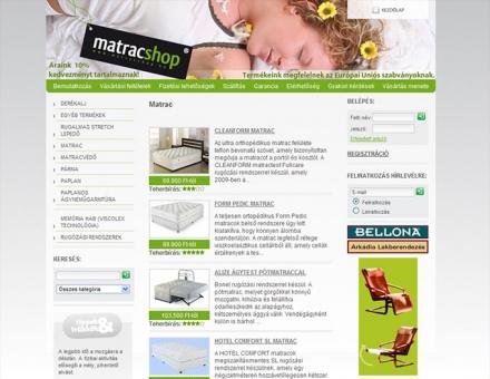 Matracshop.hu webáruház programozása