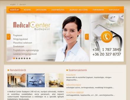 medicalcenterbudapest.hu weboldal programozása