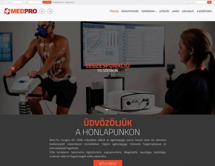 Med-Pro.hu reszponzív webáruház készítés