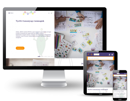 Mesebelinyelvtanulas.hu - nyelvtanulás, nyelvi csomagok gyerekeknek - reszponzív webáruház készítés