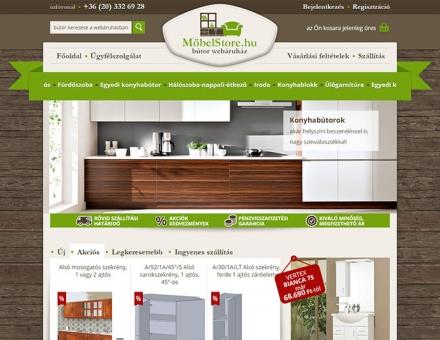 Möbelstore.hu webáruház készítés