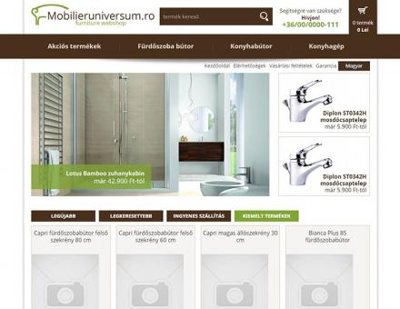 Mobilieruniversum.ro mobil barát webáruház készítése