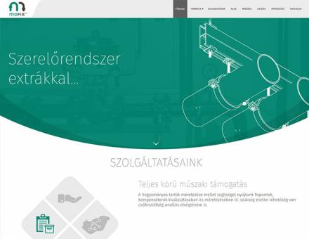 Mofix.hu reszponzív termékismertető honlap fejlesztés