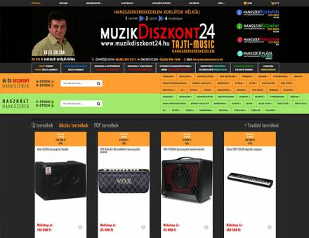 Muzikdiszkont24.hu - Hangszerkereskedelem korlátok nélkül - Reszponzív webáruház készítés
